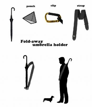 Fold-away Umbrella Holder